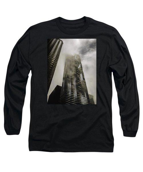 Aqua Skyscraper Long Sleeve T-Shirt
