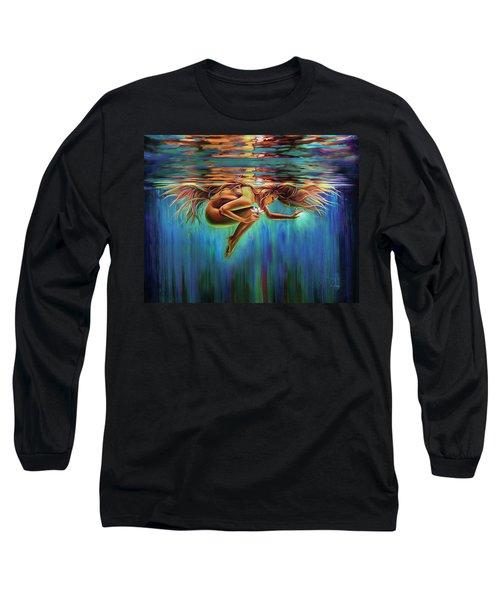 Aquarian Rebirth II Divine Feminine Consciousness Awakening Long Sleeve T-Shirt