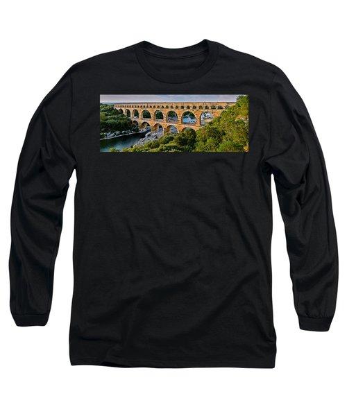 Aqueduct Pont Du Gard Long Sleeve T-Shirt