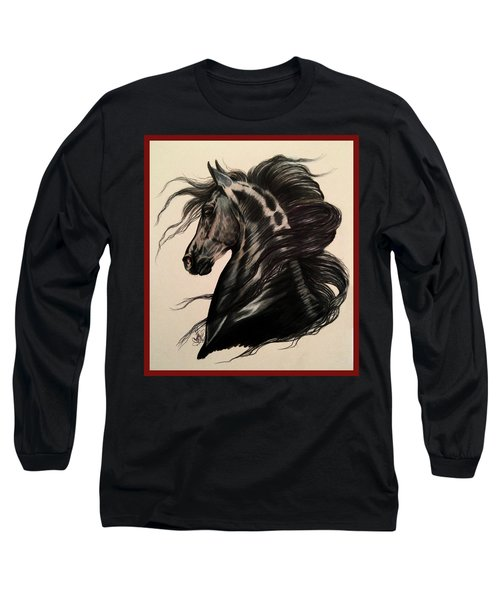 Arabian Grey On A Stormy Night Long Sleeve T-Shirt