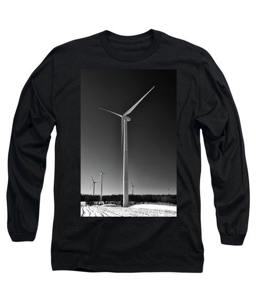 Arcade Wind Turbines 6557 Long Sleeve T-Shirt