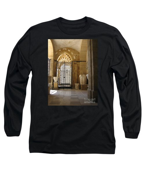 Arch Of Public Library Brindisi Italy Long Sleeve T-Shirt