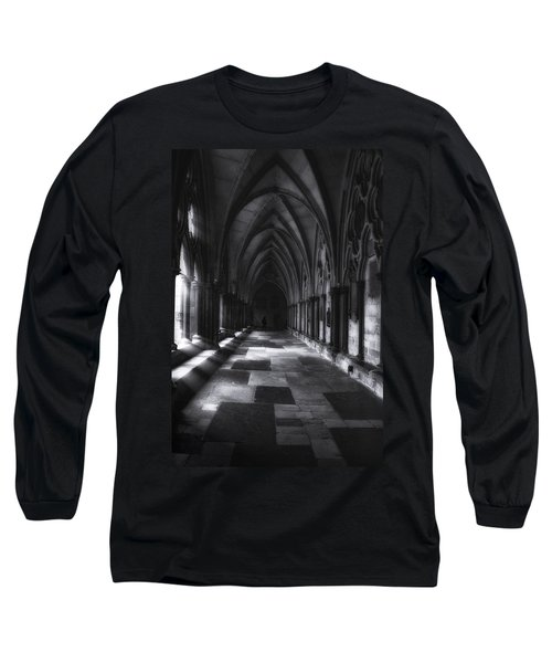 Long Sleeve T-Shirt featuring the photograph Arched Corridor by Andrew Soundarajan