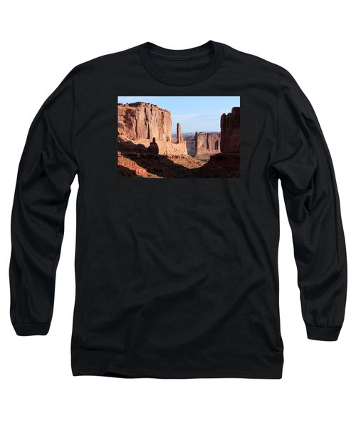 Long Sleeve T-Shirt featuring the photograph Arches Morning by Elizabeth Sullivan
