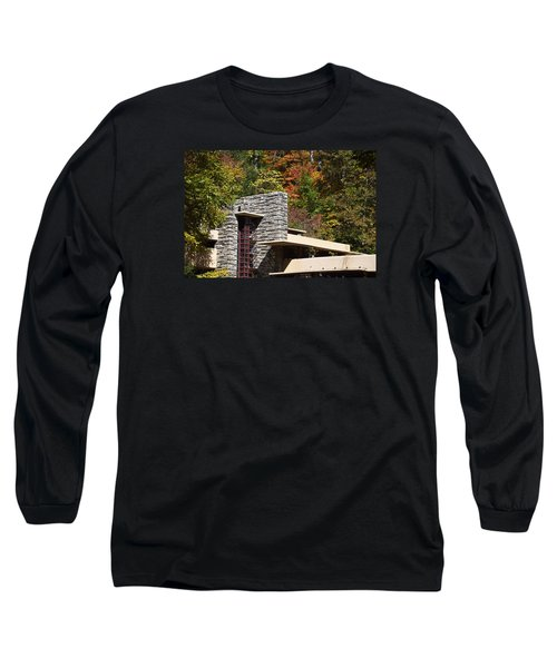 Architectural Detail Of Fallingwater -  Frank Lloyd Wright Long Sleeve T-Shirt