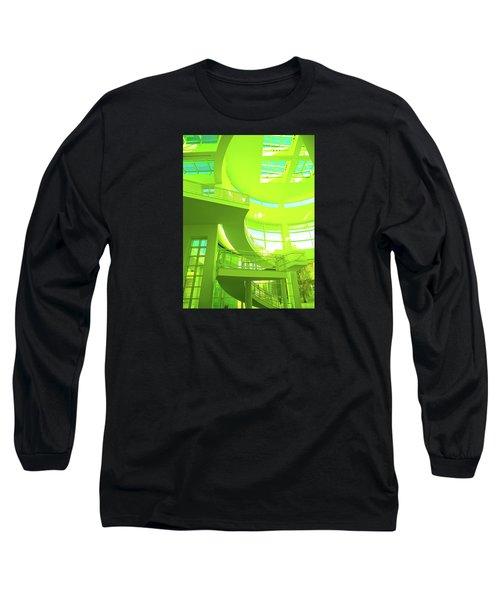 Green Splash Architecture Long Sleeve T-Shirt