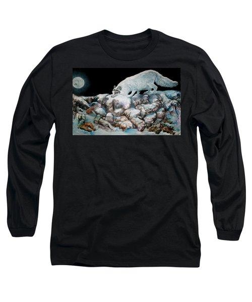 Long Sleeve T-Shirt featuring the painting Arctic Encounter by Sherry Shipley