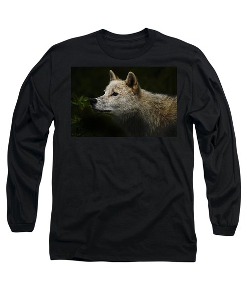Long Sleeve T-Shirt featuring the photograph Arctic Wolf Portrait by Michael Cummings