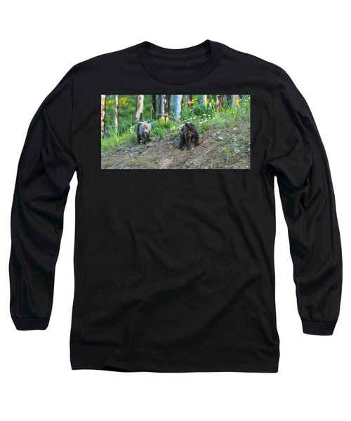 Long Sleeve T-Shirt featuring the photograph Are You Coming With Me by Yeates Photography