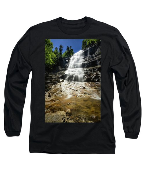 Long Sleeve T-Shirt featuring the photograph Arethusa Falls by Robert Clifford