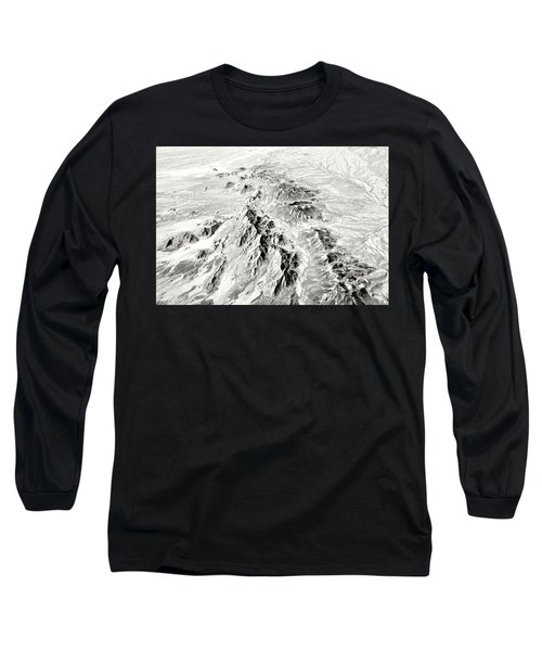 Arizona Desert In Black And White Long Sleeve T-Shirt