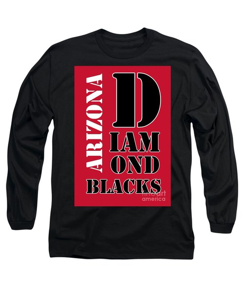 Arizona Diamondbacks Baseball Typography Red Long Sleeve T-Shirt