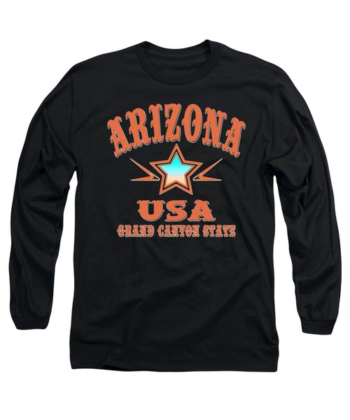 Arizona Grand Canyon State Design Long Sleeve T-Shirt
