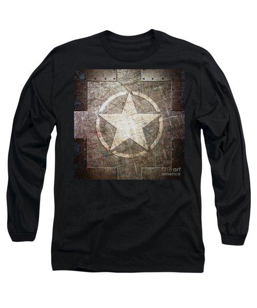 Army Star On Steel Long Sleeve T-Shirt
