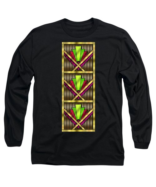 Art Deco 13 Tiles Long Sleeve T-Shirt