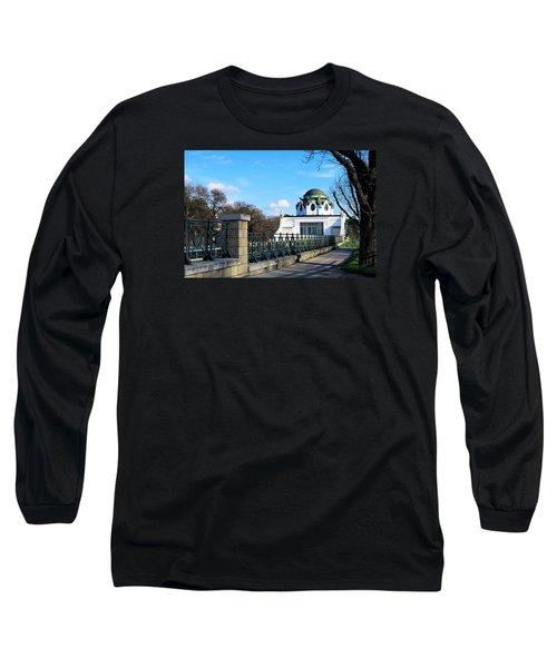 Art Deco Pavillon Long Sleeve T-Shirt by Christian Slanec