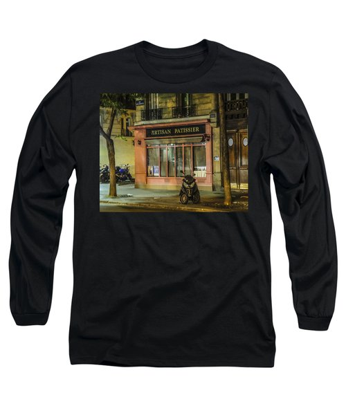Long Sleeve T-Shirt featuring the photograph Artisan Patissier Montmartre Paris by Sally Ross
