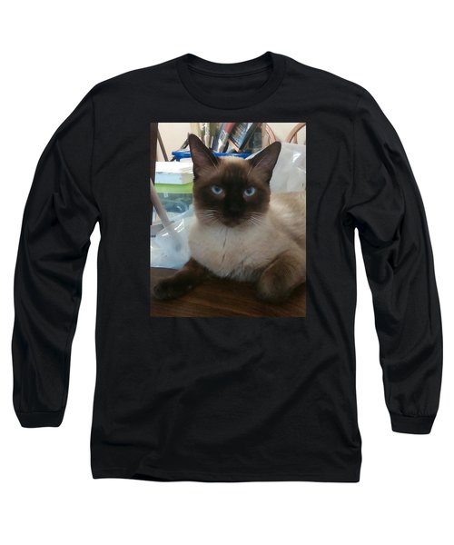 Long Sleeve T-Shirt featuring the photograph Artist's Assistant by Sheri Keith