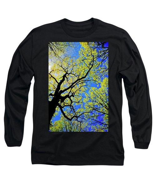 Artsy Tree Canopy Series, Early Spring - # 02 Long Sleeve T-Shirt