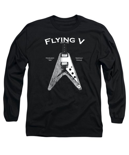 Gibson Flying V Long Sleeve T-Shirt by Mark Rogan