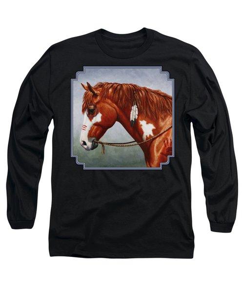Native American War Horse Long Sleeve T-Shirt