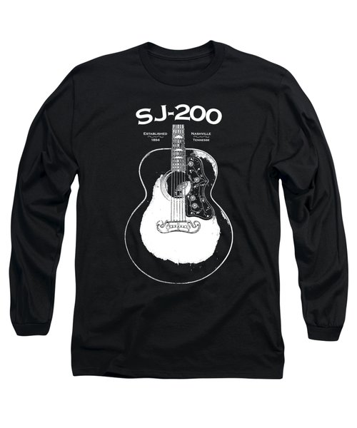 Gibson Sj-200 1948 Long Sleeve T-Shirt by Mark Rogan