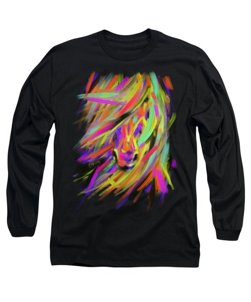 Horse Rainbow Hair Long Sleeve T-Shirt