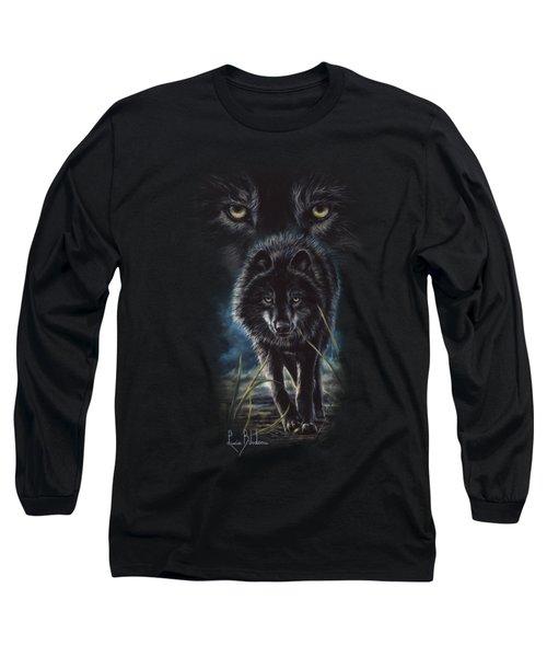 Black Wolf Hunting Long Sleeve T-Shirt