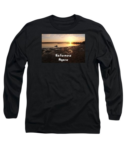 Sunset And Wooden Bridge In Ludo Long Sleeve T-Shirt