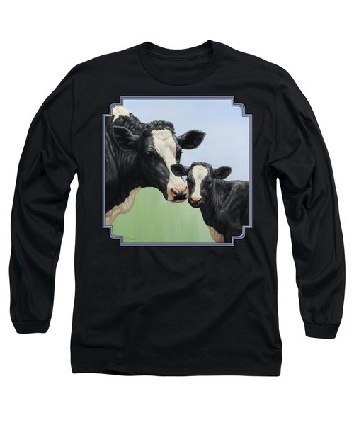 Holstein Cow And Calf Long Sleeve T-Shirt by Crista Forest