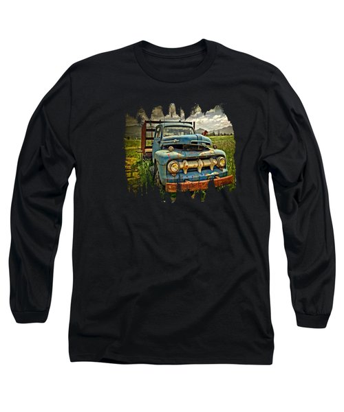 The Blue Classic Ford Truck Long Sleeve T-Shirt