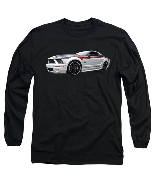 Mustang Gt With Flame Graphics Long Sleeve T-Shirt