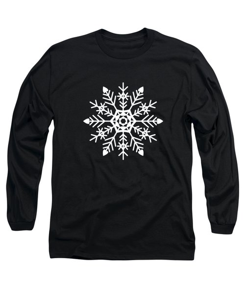 Snowflakes Black And White Long Sleeve T-Shirt