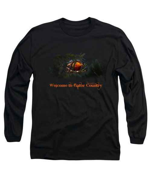 Welcome To Gator Country Long Sleeve T-Shirt by Mark Andrew Thomas
