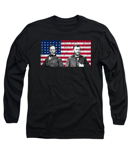 Generals Sherman And Grant  Long Sleeve T-Shirt