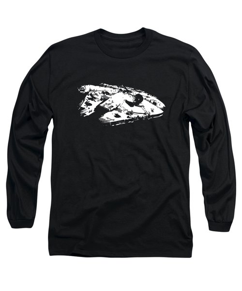 The Falcon In The Shadows Long Sleeve T-Shirt by Ian King
