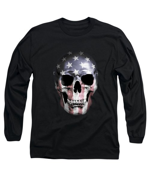 American Skull Long Sleeve T-Shirt by Nicklas Gustafsson