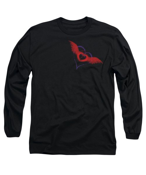 Let Your Heart Take Wings Long Sleeve T-Shirt by Linda Lees