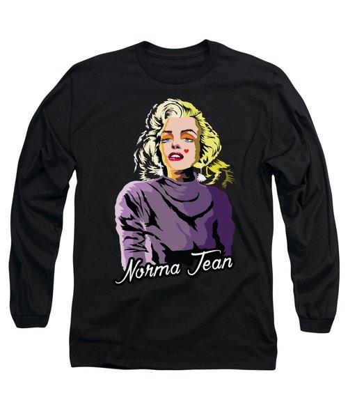 The Timeless Norma Jean Long Sleeve T-Shirt by Anthony Mwangi