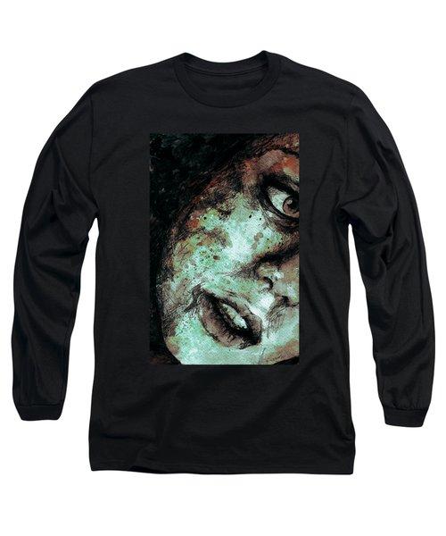 Chase My Blue Away - Rust Long Sleeve T-Shirt