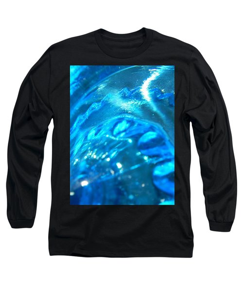 The Beauty Of Blue Glass Long Sleeve T-Shirt by Samantha Thome