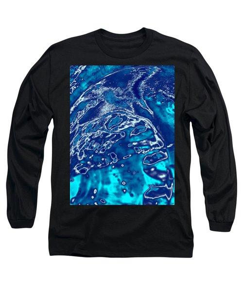 Molten Metal Splash Long Sleeve T-Shirt by Samantha Thome