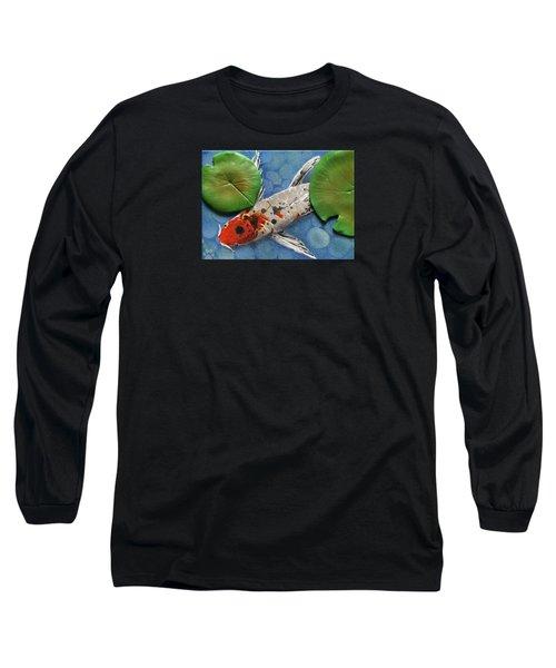 Hidden Koi Long Sleeve T-Shirt by Rhi Johnson