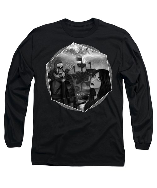 Now Or Never - Black And White Fantasy Art Long Sleeve T-Shirt