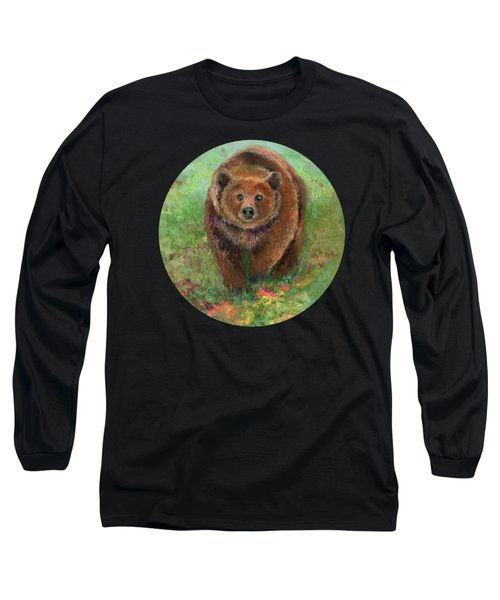 Grizzly In The Meadow Long Sleeve T-Shirt