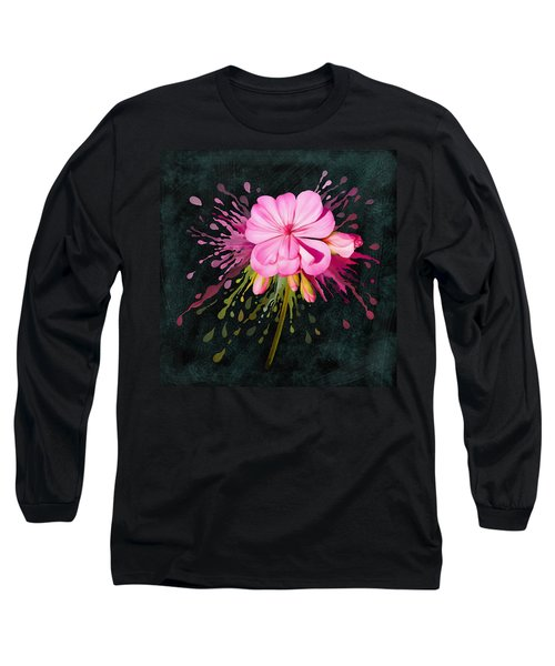 Long Sleeve T-Shirt featuring the painting Color Eruption  by Ivana Westin