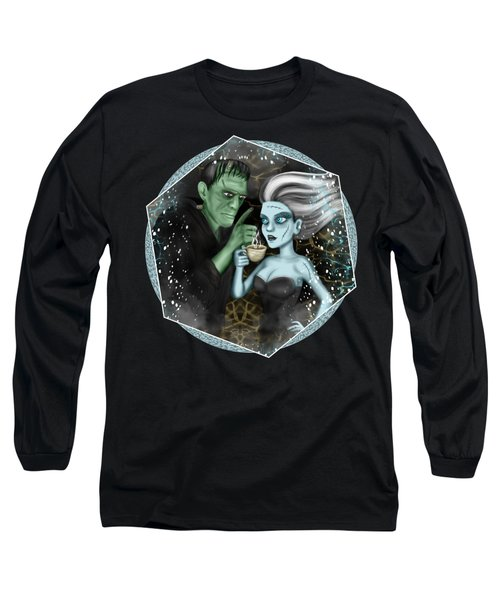 Long Sleeve T-Shirt featuring the painting Frankenstien Fantasy Art by Raphael Lopez