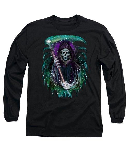 Galaxy Grim Reaper Fantasy Art Long Sleeve T-Shirt