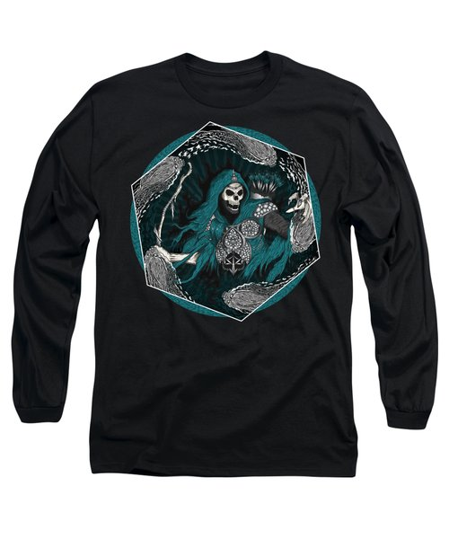 Long Sleeve T-Shirt featuring the painting Underworld Archer Of Death by Raphael Lopez