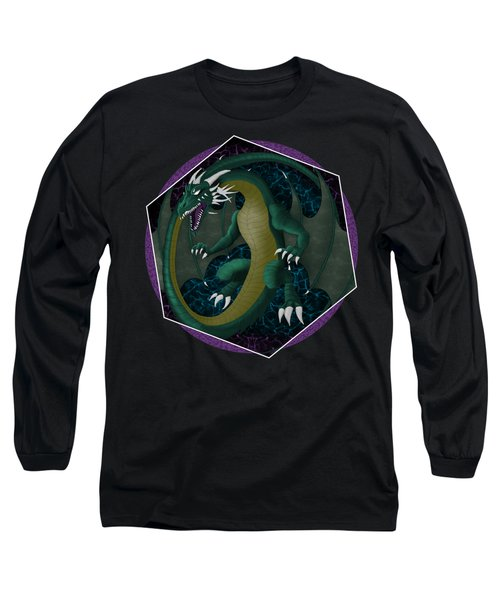 Long Sleeve T-Shirt featuring the painting Electric Portal Dragon by Raphael Lopez